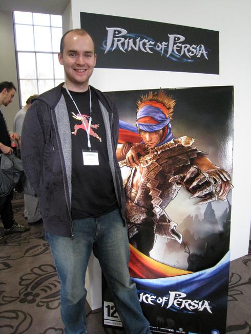 Chris Easton från Ubisoft Montreal (missa in att spana in hans råsnygga t-shirt!)